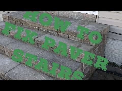 How to fix brick or paver stairs.