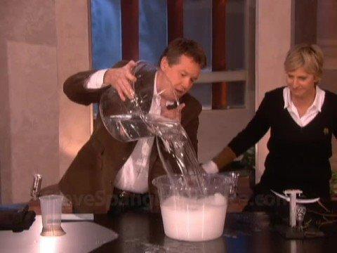 Insta-Snow Erupts on the Ellen Show
