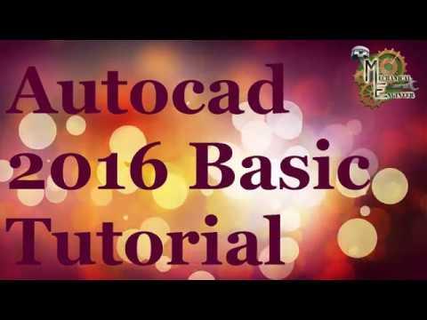 Autocad 2016 Basic tutorial for Begineer in Hindi/English