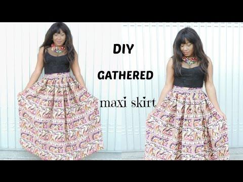 SEWING : DIY GATHERED MAXI SKIRT
