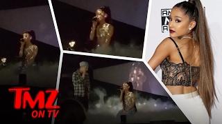 Ariana Grande Fan Gets A Little To Close To Ariana | TMZ TV