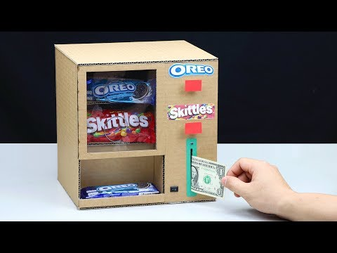 How to Make OREO and Skittles Vending Machine