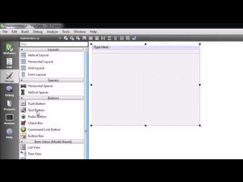 C++ GUI with Qt Tutorial - 2 - Creating a Simple Project