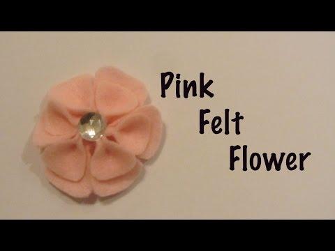 How to Make a Pink 2 Petal Felt Flower Craft Tutorial