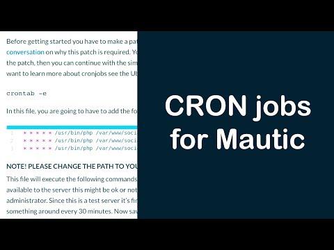 How to setup CRON jobs for Mautic