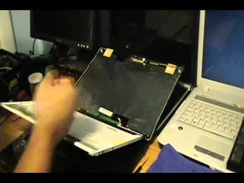 Toshiba Laptop Removing Screen ( toshiba Satellite ) 1 of 2