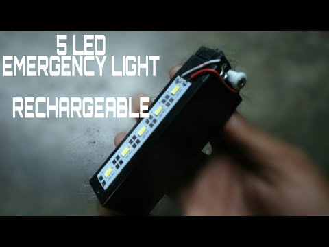 How to make 5 LED emergency light rechargeable