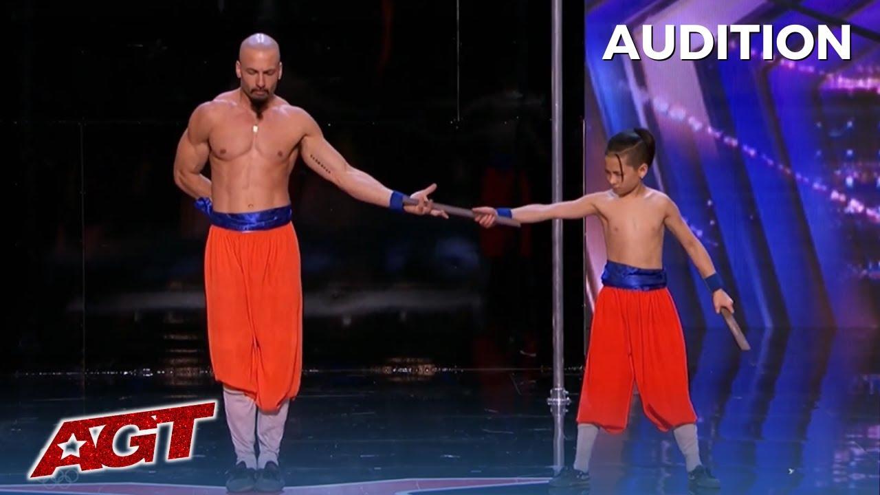 Temple London: Father Son Duo Make Simon Cowell Jealous on America's Got Talent!