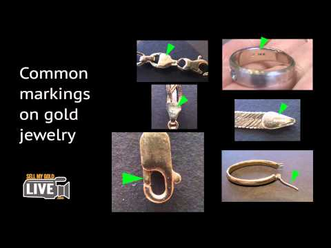 Identifying markings on gold jewelry