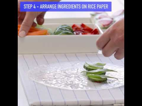 How to Wrap Rice Paper Summer Rolls