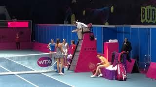 WTA Handshake Fail: Budapest 2019 R1 - Garcia Perez/Voracova vs Hon/Rodionova