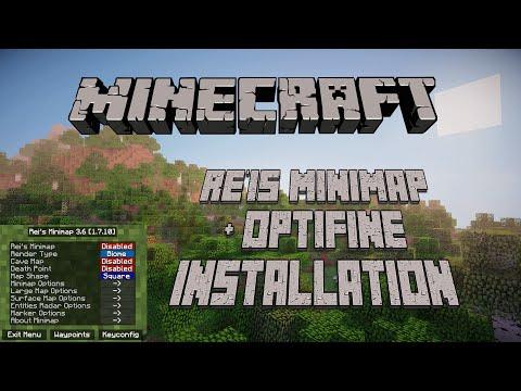 Minecraft 1.7.10 Rei's Minimap/Waypoints and Optifine Installation