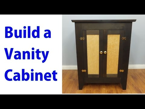 Building a Bathroom Vanity Cabinet -  Woodworkweb