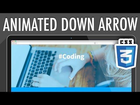Animated Down Arrow CSS3 | XO PIXEL