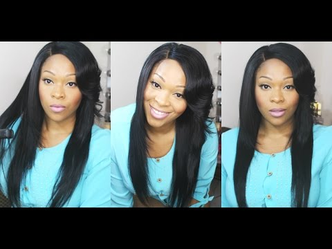 How To: Curl/Flip Side Bangs With Flat Iron | WowAfrican Aliexpress Virgin Brazilian Hair