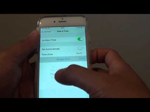 iPhone 6: How to Set Date and Time Manually