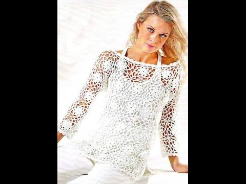 how to crochet blouse, top, pullover free pattern