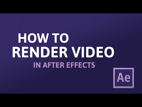 How to Render Video from After Effects