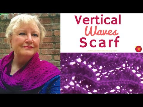 Vertical Waves Scarf - Zig Zag Lace Scarf - Knitting a Lace Scarf