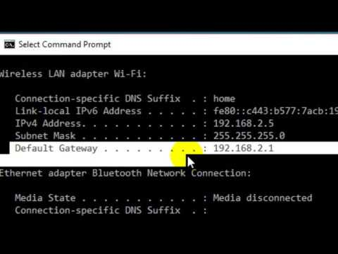 How to find the default gateway address of any Modem