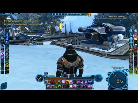 SWTOR black and black dye module on Honored adept robe