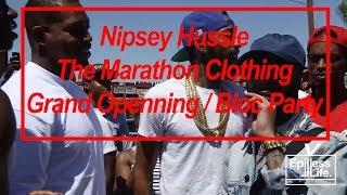 The Marathon Store Grand Opening: Nipsey Hussle (Slauson and Crenshaw)