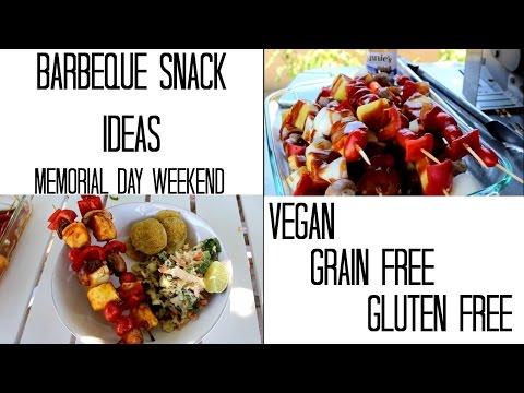 Vegan Barbecue Snacks | Gluten Free | Grain Free | Memorial Day Weekend!