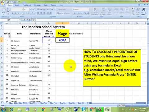 How to Calculate Percentage In MS Excel
