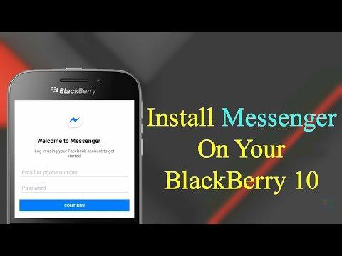 Install Facebook Messenger On BlackBerry 10