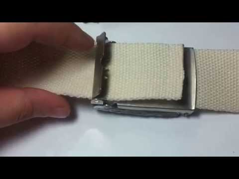 How to use a military style buckle