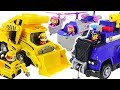 Paw Patrol Ultimate Rescue Construction Truck Police Cruiser Defeat Dinosaur DuDuPopTOY
