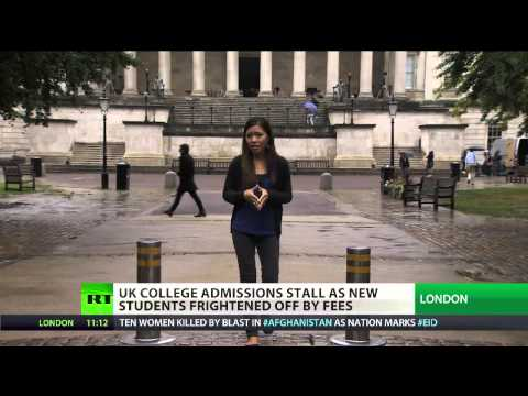 UK college admission stall as new students frightened off by fees