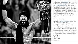 Jinder Mahal RESPONDS To Critics and his WWE Title Loss