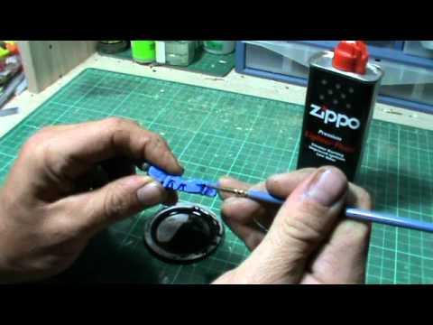 Gunpla Tutorial : Panel Line Washes with Lighter Fluid