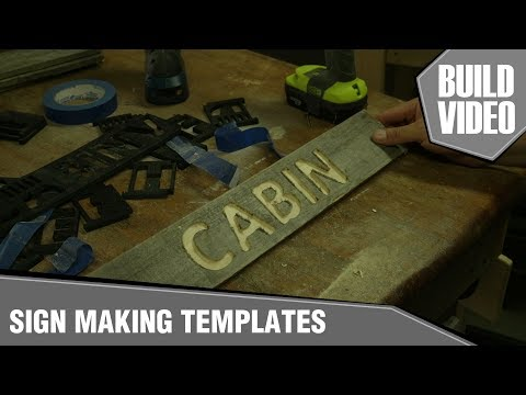 SIGNMAKING WITH 3D PRINTED ROUTER TEMPLATES