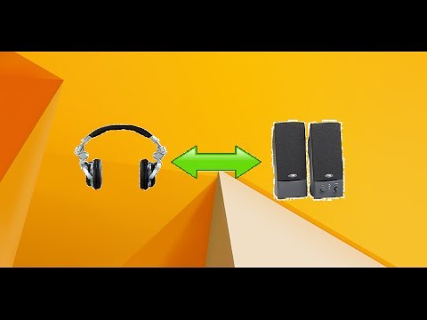 how to switch between headphones and speakers easily