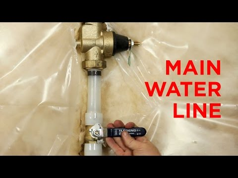 The Main Water Line to Your House and How it Works