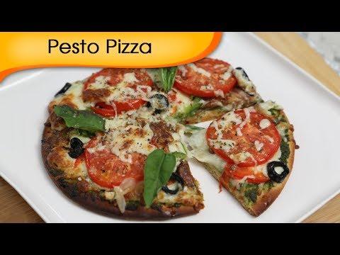 How To Make Pizza At Home - Pesto Pizza  | Ruchi Bharani