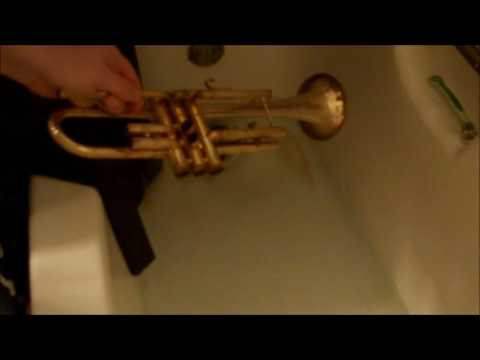 Delacquering an old Trumpet