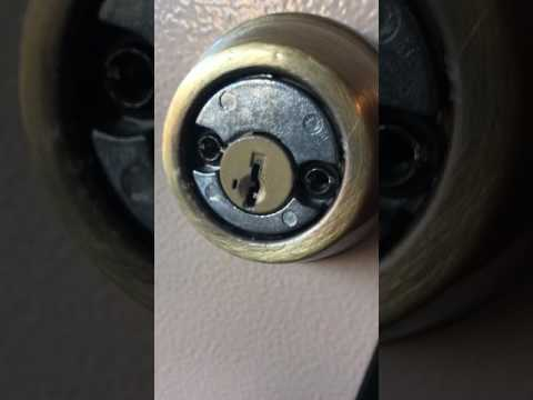 How to remove Kwikset Double Cylinder Deadbolt Lock
