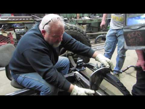 Military Rat Rod Front Suspension Install Part 1