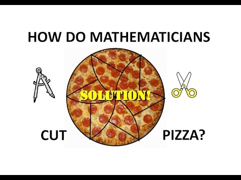 How do Mathematicians Cut Pizza? SOLUTION!