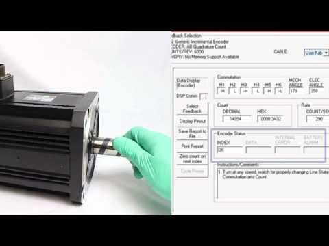 Mitchell Electronics, Inc: Testing the Encoder on a Servomotor