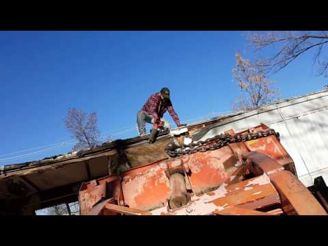 Mobile home roof removal with a sawzall