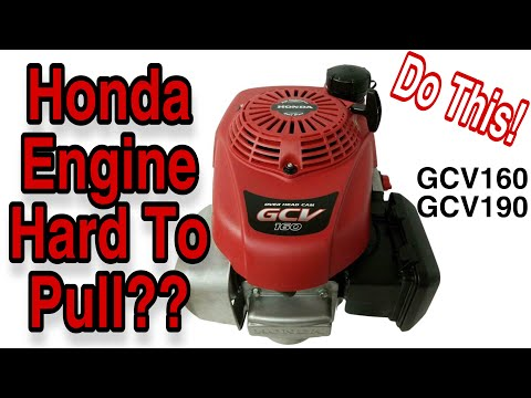 How To Fix  A Honda GCV160 / GCV190 Engine That Is Hard To Pull - Clownin' Around