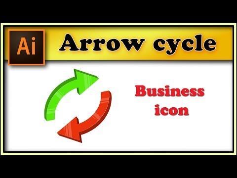 3D arrow cycle - Adobe Illustrator tutorial