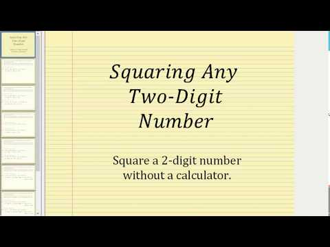 Square Any Two-Digit Number without Using  Calculator
