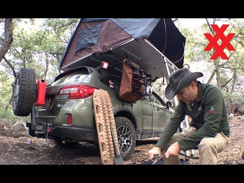 Rooftop Tent Camping Sierra Ancha Mountains Subaru Outback Overland  by 4XPEDITION