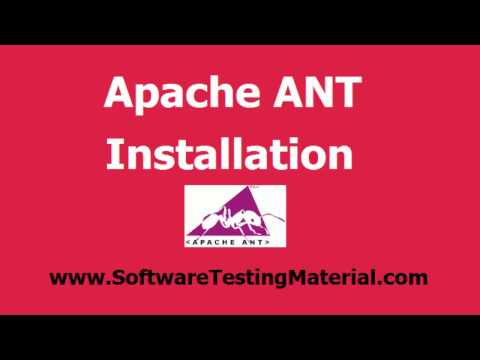 How To Install Apache ANT