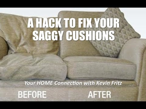 Hack to Fix Your Poor Saggy Couch Cushions
